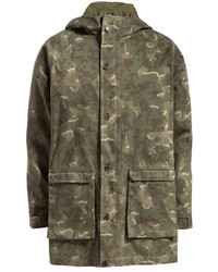 Olive Camouflage Parka