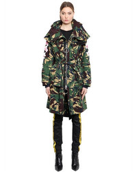 Off-White Camo Cherry Blossom Canvas Parka