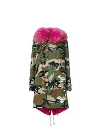 Furs66 Camouflage Parka Coat