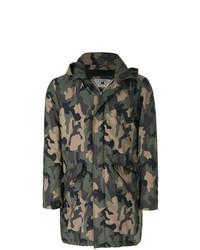Kired Camouflage Print Military Coat