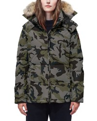 Canada Goose Chelsea Slim Fit Down Parka With Genuine Coyote