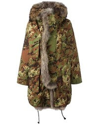 Dsquared2 Fur Trim Camouflage Parka