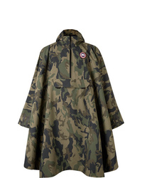 Canada Goose Field Camouflage Print Shell Poncho
