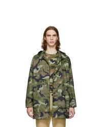 Valentino Green Camo Army Coat