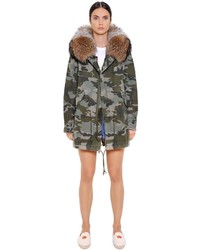 Midi Cotton Canvas Parka W Murmasky Fur