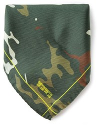 Olive Camouflage Pocket Square