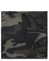 Tom Ford Camouflage Print Silk Twill Pocket Square