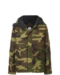 Canada Goose Camouflage Print Padded Coat