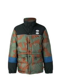 Off-White Camouflage Print Padded Jacket