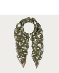 Bally Camouflage Print Scarf