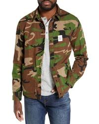 Olive Camouflage Shirt Jacket