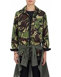 rag & bone Heath Camouflage Cotton Blend Shirt Jacket