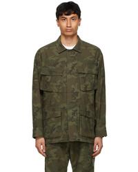 Neighborhood Khaki Camouflage Fatigue Jacket