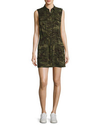 The safari sleeveless camo dress olive medium 1246885