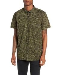 Olive Camouflage Short Sleeve Shirt