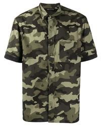 Neil Barrett Camouflage Short Sleeve Shirt