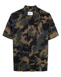 Dondup Camouflage Short Sleeve Shirt