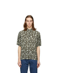Fendi Green Camo Forever Short Sleeve Shirt