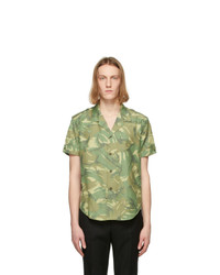 Saint Laurent Khaki Camo Short Sleeve Shirt