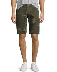 Ovadia & Sons Camo Print Cargo Shorts Green