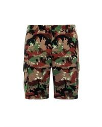 Valentino Camouflage Print Cargo Shorts