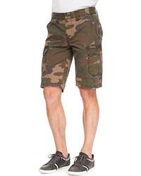 Rag bone camo print ripstop shorts green medium 51939