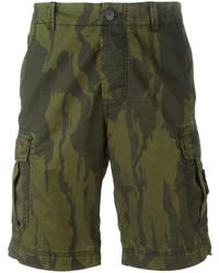 Stone Island Camouflage Cargo Shorts