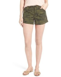 Sanctuary Traveler Camo Print Stretch Twill Shorts Size 26 Green