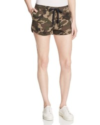 Warp weft camouflage print drawstring shorts medium 543653