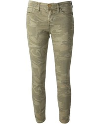 Olive Camouflage Skinny Jeans