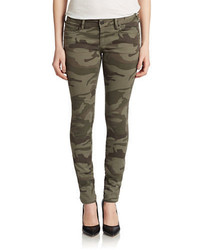 True Religion Casey Low Rise Skinny Jeans Camo