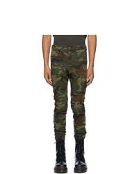 R13 Green Camo Skywalker Jeans