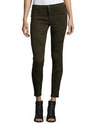 Hudson Krista Ankle Skinny Jeans Camo Olive