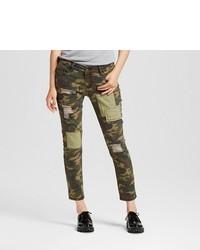 Dollhouse Mid Rise Patchwork Camo Jeans