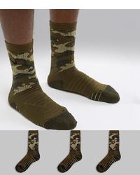 Nike Training Everyday Max Cushion Camo 3 Pack Socks Sx7630 395