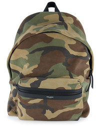 Camo print suede backpack green medium 649621