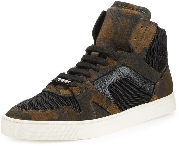 high top camo sneakers