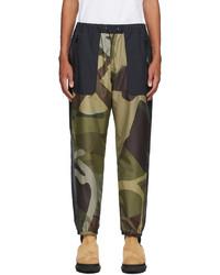 Sacai Green Black Kaws Edition Camo Lounge Pants