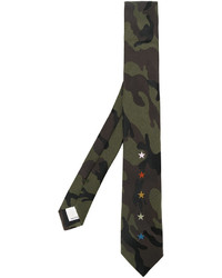 Valentino Camouflage Star Embroidered Tie