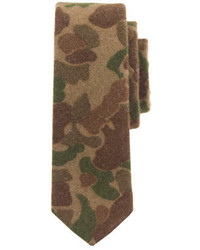 J.Crew The Hill Side Wool Tie In Camouflage