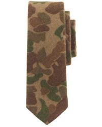 Wool tie in camouflage medium 344449