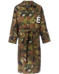 Tudes Camouflage Trenchcoat