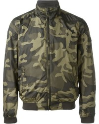 Woolrich Camouflage Reversible Bomber Jacket