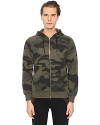 Olive Camouflage Zip Sweater