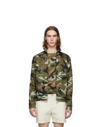Valentino Green Art Camo Jacket