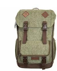 Bondka 18 Jam Canvas Backpack Olive Green