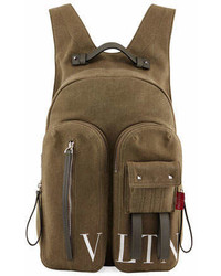 Valentino Garavani Vltn Logo Graphic Canvas Backpack