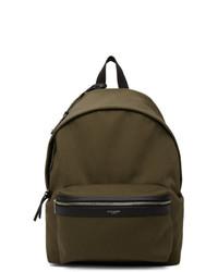 Saint Laurent Khaki Twill City Backpack