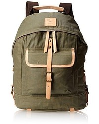 Will Leather Goods Will Leather Waxed Canvas Dome Backpack