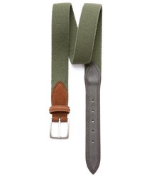 Olive Canvas Belt